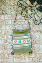 Load image into Gallery viewer, Vintage 70s Green Crochet Crossbody Bag