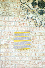 Load image into Gallery viewer, Handmade Yellow Striped Woven Crossbody Bag