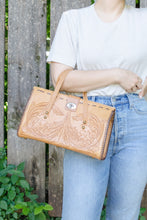 Load image into Gallery viewer, Vintage Brown Carved Leather Bag
