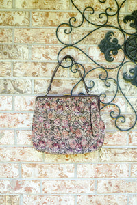 Vintage 60s Rose Tapestry Bag by Ingber