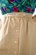 Load image into Gallery viewer, Vintage Beige Button Skirt / S