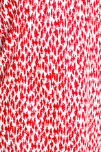 Load image into Gallery viewer, Vintage 70s Red People Print Dress / S-M
