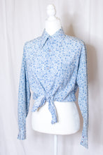 Load image into Gallery viewer, Vintage 70s Blue Printed Shirt / S-L