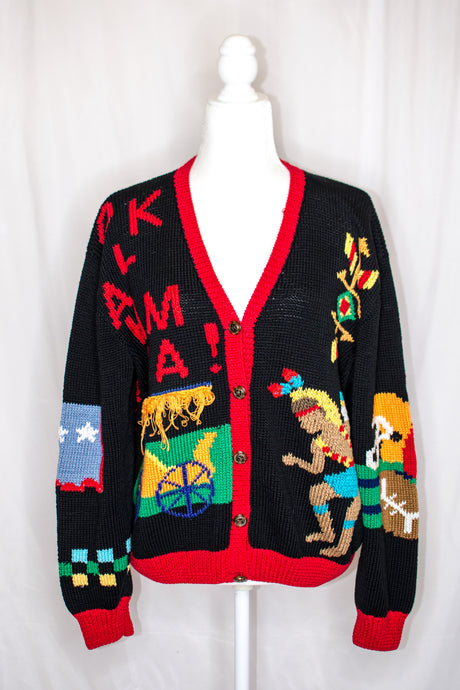 Vintage 80s Collectible Oklahoma Cardigan / S-L