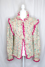Load image into Gallery viewer, Vintage 80s Ruffle Cozy Cardigan / S-L