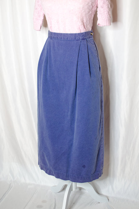 Vintage 90s Purple Long Skirt / S-M
