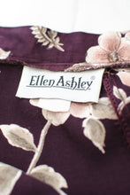 Load image into Gallery viewer, Vintage Purple Floral Slip Skirt / XS-S