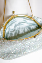 Load image into Gallery viewer, Vintage 50s Light Blue Beaded Evening Bag