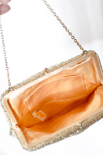 Load image into Gallery viewer, Vintage 60s Gold Beaded Evening Bag