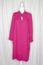 Load image into Gallery viewer, Vintage 70s-80s Hot Pink Shirt Dress / S-M