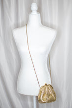 Load image into Gallery viewer, Vintage 80s Gold Evening Bag