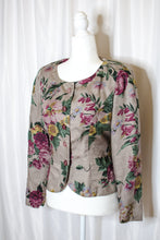 Load image into Gallery viewer, Vintage 80s Grey Floral Jacket  / S-M