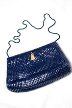 Load image into Gallery viewer, Vintage Navy Metal Mesh Evening Bag