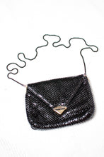 Load image into Gallery viewer, Vintage Black Metal Mesh Evening Bag,
