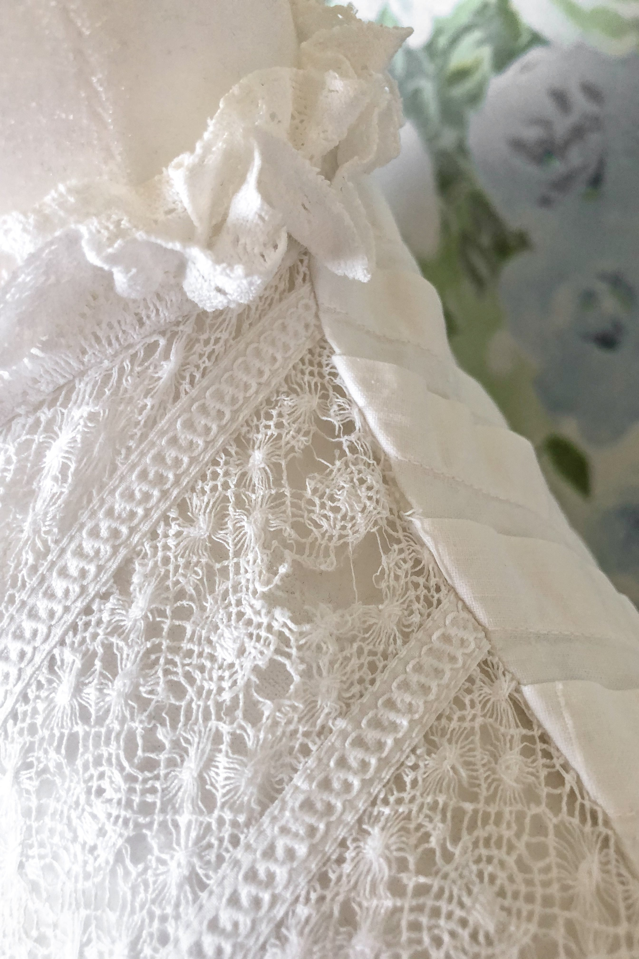 Vintage Edwardian White Lace Dress / S