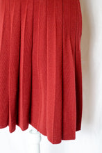 Load image into Gallery viewer, Vintage 70s Rust Red Sweater Dress / XS