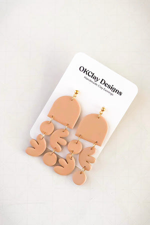 Open image in slideshow, The Groovy Earrings by OKClay Designs