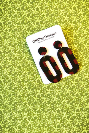 Open image in slideshow, The Rink Earrings by OKClay Designs