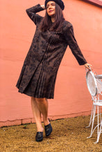 Load image into Gallery viewer, Vintage 70s Brown and Black Shirt Dress / S-M