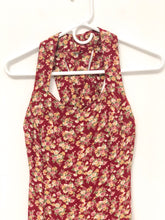 Load image into Gallery viewer, 90s Red Floral Tank Dress  / XS-S
