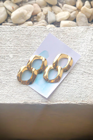 Vintage Gold Chain Link Earrings