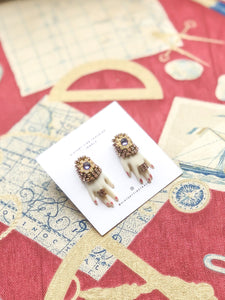 "Vintage ""Hands On"" Lilac Gem Earrings"
