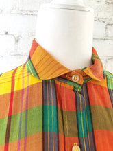 Load image into Gallery viewer, Vintage Yellow Plaid Shirt / S