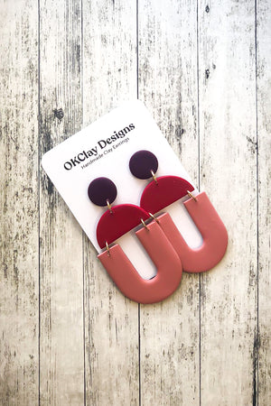 Open image in slideshow, The Uptown Earrings by OKClay Designs