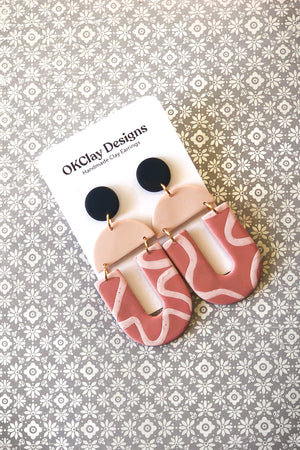 The Uptown Earrings by OKClay Designs