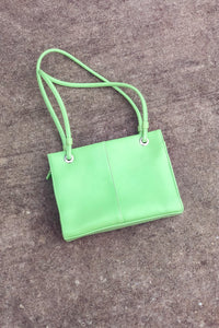 Vintage Pistachio Green Top Handle Bag