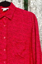 Load image into Gallery viewer, Vintage 80s Red Leopard Shirt / S-M