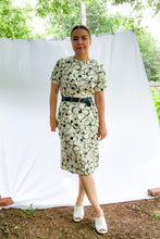 Load image into Gallery viewer, Vintage 60s Black & White Floral Dress / S