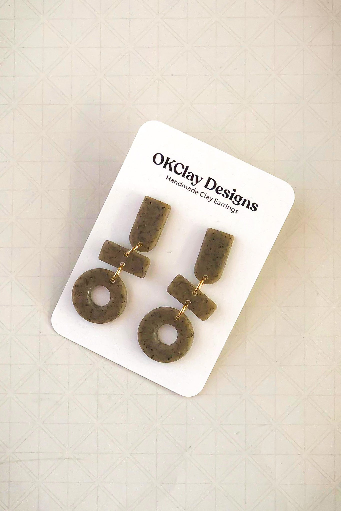 The New Age Earrings by OKClay Designs
