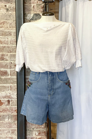 1980s High Waisted Studded Shorts / W:30""