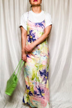 Load image into Gallery viewer, Vintage 80s Watercolor Floral Slip Dress / S-L