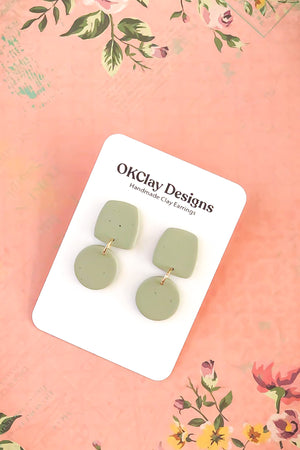 Open image in slideshow, The Duo Earrings by OKClay Designs