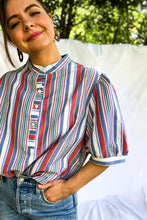 Load image into Gallery viewer, Vintage 70s Stripe Popover / L-XL