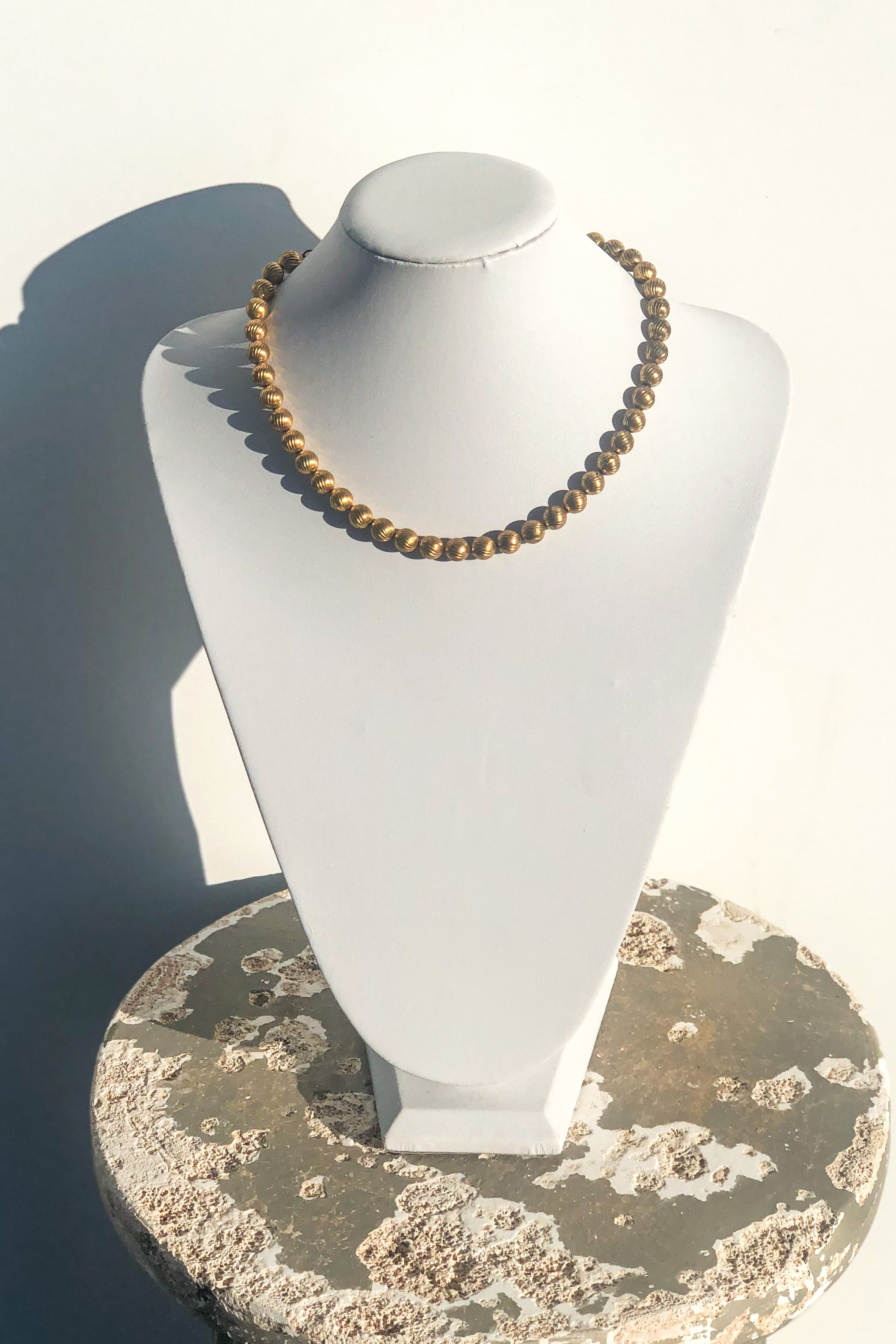 Vintage Gold Ball Necklace