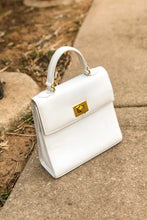 Load image into Gallery viewer, Vintage White Top Handle Purse