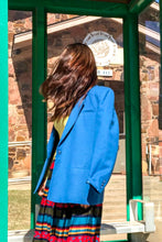 Load image into Gallery viewer, Vintage 70s-80s Teal Blazer / S-M