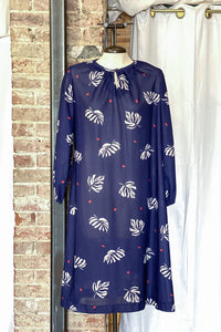 1970s Palm Leaf Dress / Large - XLarge