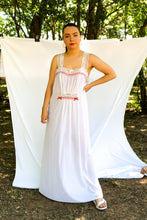Load image into Gallery viewer, Vintage White Swiss Dot Slip Dress / S-L