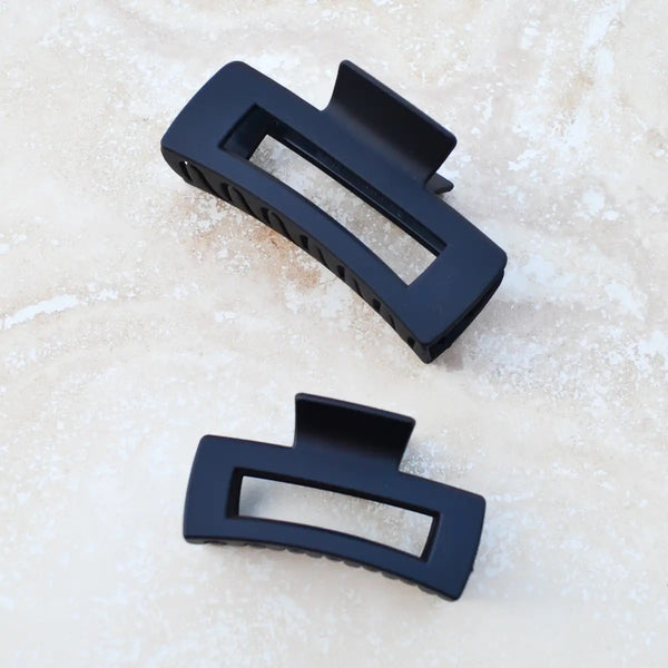 Small Long Square Hair Clip