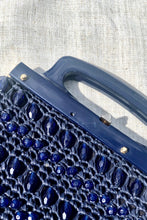 Load image into Gallery viewer, Vintage 50s-60s Blue Beaded Handbag