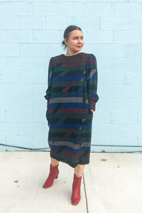 Vintage 80's Designer Wool Dress / S-M