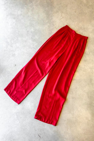 Vintage 70's Red Trousers / W: 26""