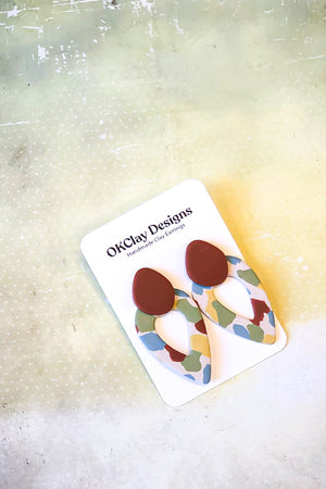 Open image in slideshow, The Blanche Earrings by OKClay Designs
