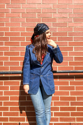70s Denim Blazer / S-M