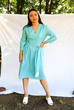 Load image into Gallery viewer, Vintage 60s Baby Blue Dress / S-M