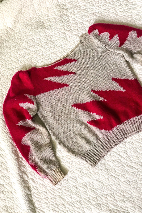 80s Pink Cozy Sweater / S
